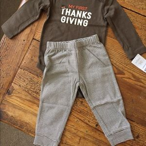 Carter's Matching Sets - Carter's My First Thanksgiving Outfit - NEW